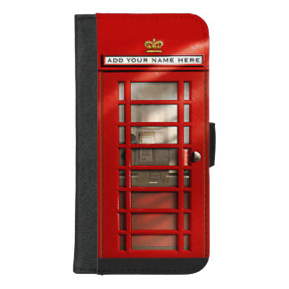 Classic British Red Telephone Box Personalized iPhone 8/7 Plus Wallet Case