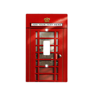 Classic British Red Telephone Box Personalized Light Switch Cover