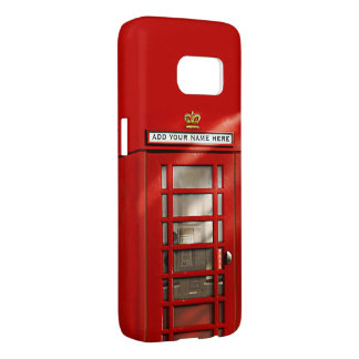Classic British Red Telephone Box Personalized Samsung Galaxy S7 Case