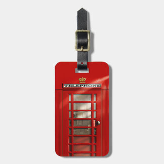 Classic British Red Telephone Box Personalized Tag For Luggage