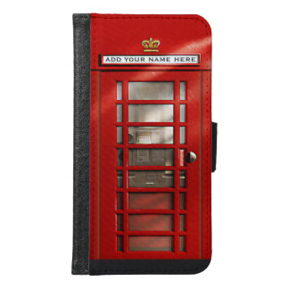 Classic British Red Telephone Box Personalized Wallet Phone Case For Samsung Galaxy S6