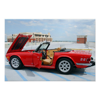 Classic British Sports Car Poster