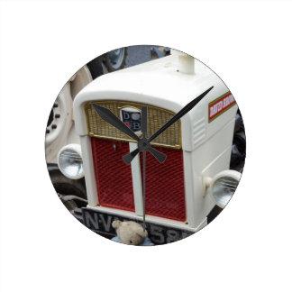 Classic British Tractor Round Clock