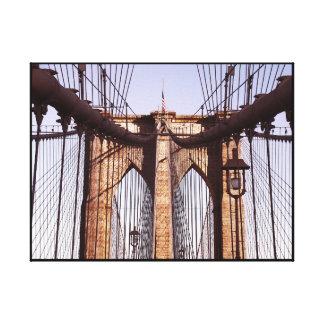 Classic Brooklyn Bridge, NYC Canvas Print