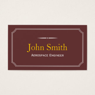 Classic Brown Aerospace Engineer Business Card