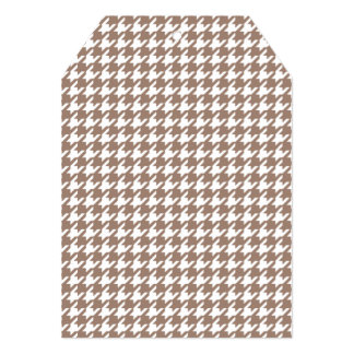 Classic Brown and White Houndstooth Pattern 5x7 Paper Invitation Card