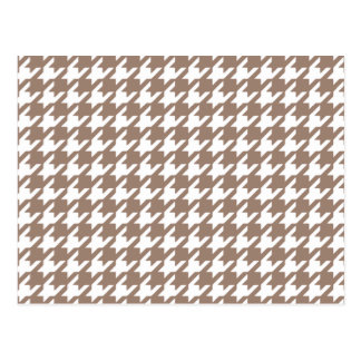 Classic Brown and White Houndstooth Pattern Postcard