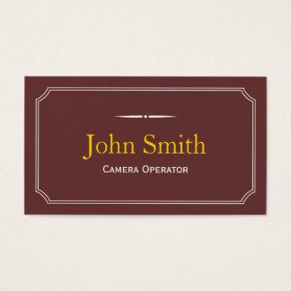 Classic Brown Camera Operator Business Card