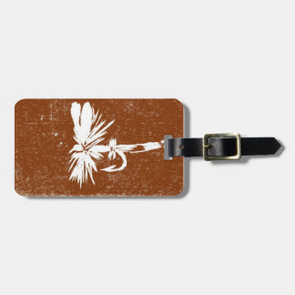 """Classic """"Brown Coachman"""" Dry Fly Luggage Tag"""