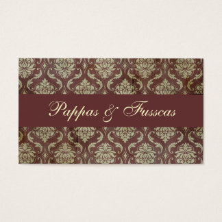 Classic Brown Damask Business Card