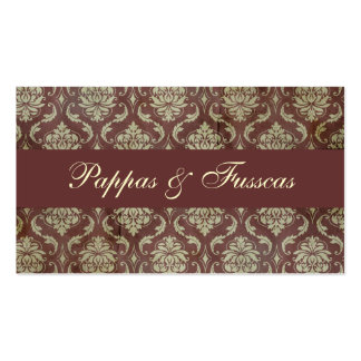 Classic Brown Damask Business Card Templates