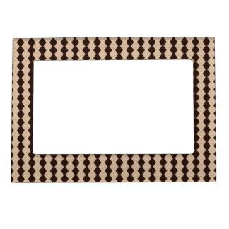 Classic Brown Diamonds Pattern Photo Frame