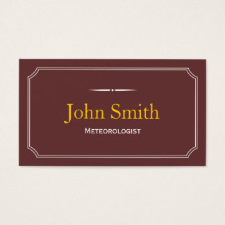 Classic Brown Meteorological Business Card