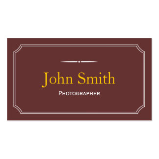 Classic Brown Photographer Business Card