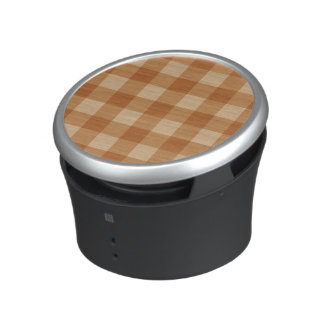 Classic brown plaid checkered cloth speaker