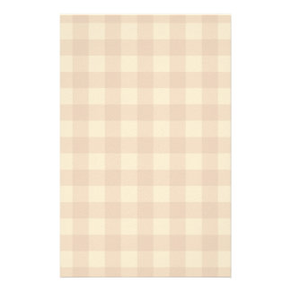 Classic brown plaid checkered cloth stationery