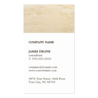 Classic Brown White Sand Consultant Business Card