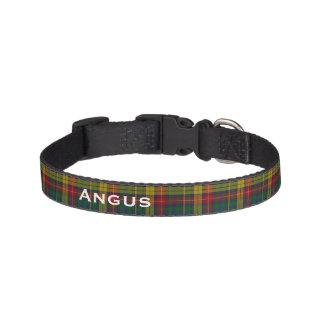 Classic Buchanan Tartan Plaid Custom Dog Collar