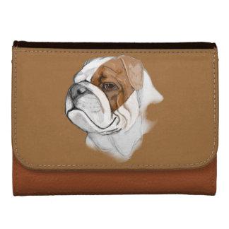Classic Bulldog Portrait Wallet For Women