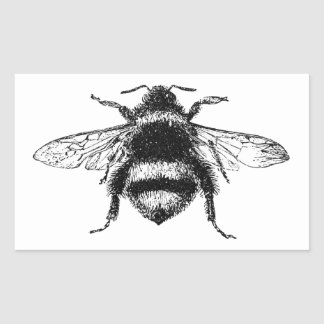 Classic Bumble Bee Rectangular Sticker