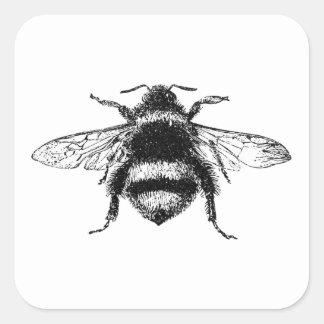 Classic Bumble Bee Square Sticker
