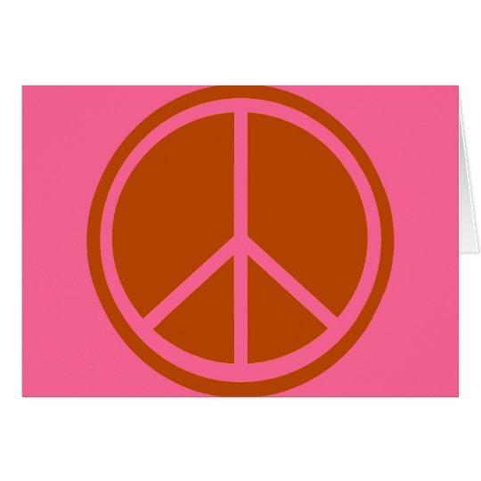 Classic Burnt Orange Peace Sign Card