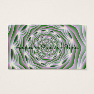 Classic Business Card  Pink and Green Vortex