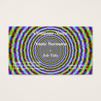 Classic Business Card   Psychedelic Neon Ripples