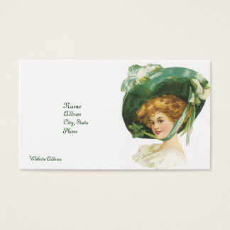 CLASSIC BUSINESS CARDS - BIG GREEN BONNET - STYLE