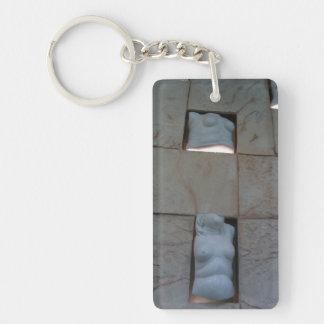 Classic busts Single-Sided rectangular acrylic keychain