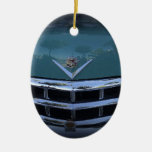 Classic Cadi Double-Sided Oval Ceramic Christmas Ornament