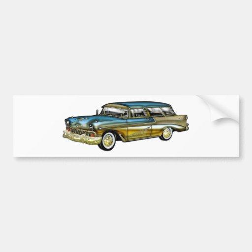 Classic Cadillac 2 Door Hard Top Bumper Sticker