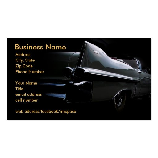 Classic Cadillac Business Card