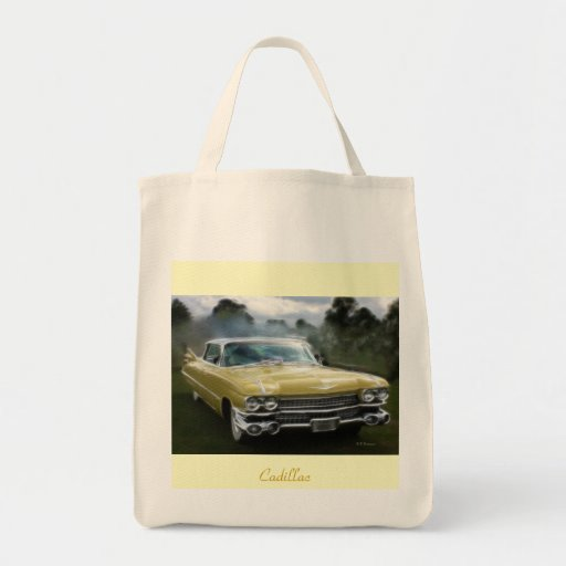Classic Cadillac Grocery Tote Bag