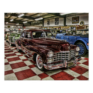 Classic Cadillac street rod Poster