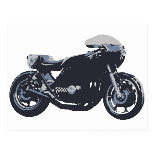 Classic Cafe Racer Motorcycle Postcards