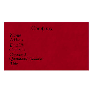 Classic Calendar 2013 Business Card