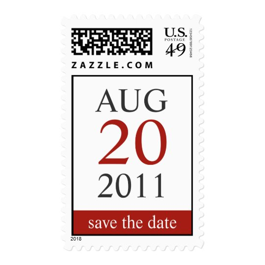 Classic Calendar Save The Date Postage Stamp
