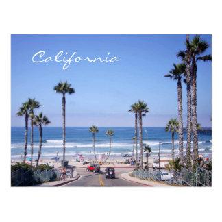 Classic California beach front Postcard