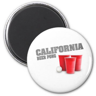 Classic California Beer Pong 2 Inch Round Magnet