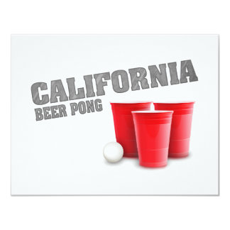 Classic California Beer Pong Card