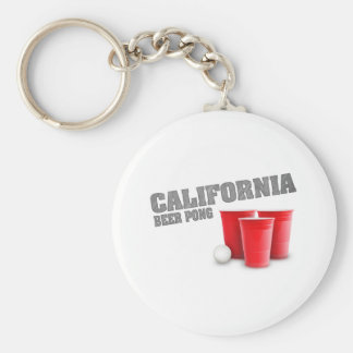 Classic California Beer Pong Basic Round Button Keychain