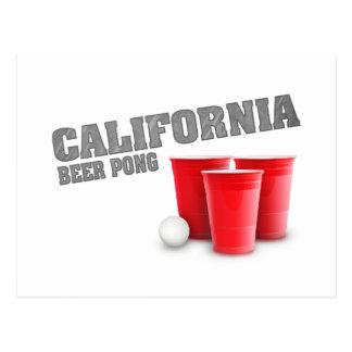 Classic California Beer Pong Postcard
