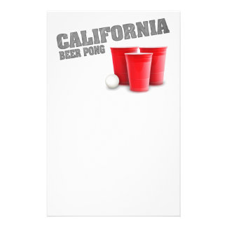 Classic California Beer Pong Stationery
