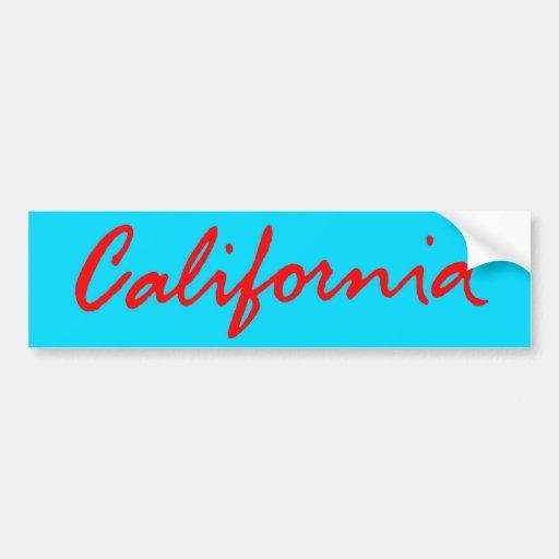 Classic California Script Logo Bumper Sticker