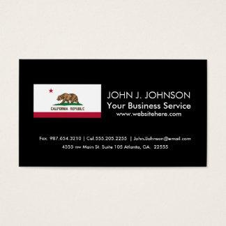 Classic California State Flag Business Card