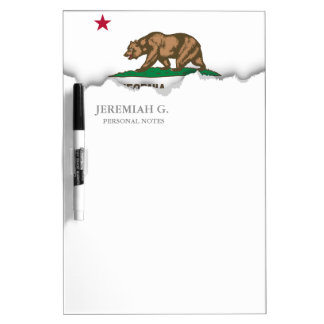 Classic California State Flag Dry Erase Board