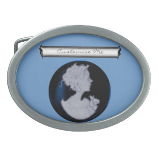 Classic Cameo (Blue) Belt Buckle