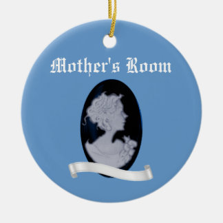 Classic Cameo (Blue) Ceramic Ornament