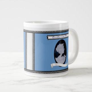 Classic Cameo (Blue) Large Coffee Mug